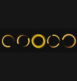 Gold light circle with sparkles magic glow effect