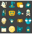 Halloween Flat Icons vector image
