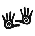 hand icon simple style vector image vector image