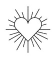 heart love sunburst icon vector image vector image