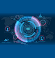 hud elements search human resources hr vector image