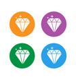 jewelry symbol set diamond icon vector image