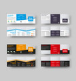 layout a square booklet with color accents vector image vector image