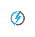 lightning logo template icon vector image vector image