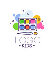 logo kids creative design template hand drawn vector image vector image