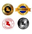louisiana badges gold stamp rubber band circle vector image