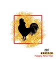 Magic Banner with Rooster as Symbol Chinese New vector image