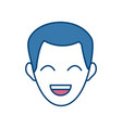 man face character people laugh image vector image vector image