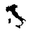 map italy isolated black on vector image vector image