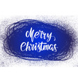 merry christmas calligraphy lettering text symbol vector image vector image