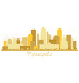 minneapolis minnesota usa skyline golden vector image vector image