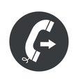 Monochrome round outgoing call icon vector image