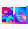 music wave party poster design vector image vector image