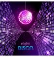 Neon disco ball vector image vector image