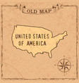 old style usa map vector image