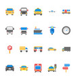 pack of transport flat icons vector image vector image