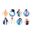 people talking phone person family calling by vector image vector image