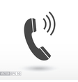 Phone flat Icon Sign Phone logo for web design vector image