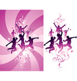 pink people background vector image vector image