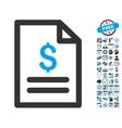 Price List Flat Icon With Bonus vector image vector image