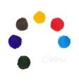 Rainbow colors paint circles set vector image vector image