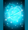 realistic light shining glare lamps christmas vector image