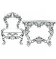 Royal Baroque Classic furniture set vector image vector image