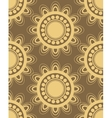 Seamless pattern in brown and yellow vector image
