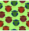 seamless pattern with owls for wrapping paper and vector image vector image