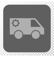 Service Car Rounded Square Button vector image vector image