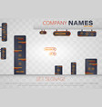 set signage vector image vector image