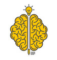 silhouette brain on a white background vector image vector image