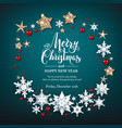 snowflakes and stars wreath vector image vector image