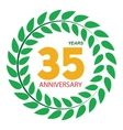 Template Logo 35 Anniversary in Laurel Wreath vector image vector image
