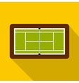 Tennis court icon flat style vector image