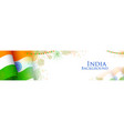 tricolor india banner for happy independence day vector image vector image