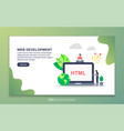 web development concept with tiny people vector image