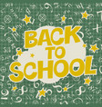 welcome back to school poster back to school text vector image