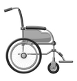 Wheelchair icon gray monochrome style vector image vector image