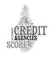 you credit score agencies and the tough economy vector image vector image