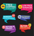 modern stickers and tags colorful collection 1 vector image