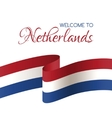 Welcome to Netherlands Card with national flag vector image