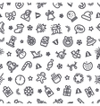 Christmas Symbols Seamless Pattern vector image