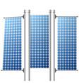 solar panels renewable power sources set vector image