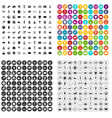 100 sport journalist icons set variant vector image vector image