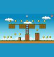 8 bit pixel art platformer game asset - original vector image