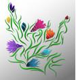 abstract flower pattern -floral colorful design vector image vector image