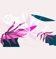 abstract jungle plants and creative collage vector image