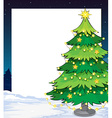 An empty christmas template with a christmas tree vector image vector image