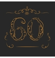 Anniversary 60th vector image